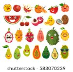 fruit character vector set.... | Shutterstock .eps vector #583070239