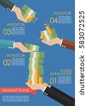 mutual fund infographic concept.... | Shutterstock .eps vector #583072525