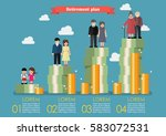 people generations with... | Shutterstock .eps vector #583072531