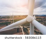 wind turbine from aerial view   ... | Shutterstock . vector #583086115