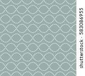 seamless wavy pattern of dots.... | Shutterstock .eps vector #583086955