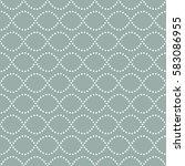 seamless wavy pattern of dots....   Shutterstock .eps vector #583086955