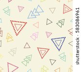 seamless pattern triangles of ... | Shutterstock .eps vector #583086961