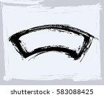 black paint  ink brush strokes  ... | Shutterstock .eps vector #583088425