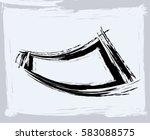 black paint  ink brush strokes  ... | Shutterstock .eps vector #583088575