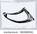 black paint  ink brush strokes  ... | Shutterstock .eps vector #583088581