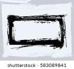 black paint  ink brush strokes  ... | Shutterstock .eps vector #583089841