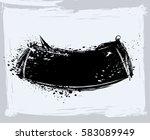 black paint  ink brush strokes  ... | Shutterstock .eps vector #583089949