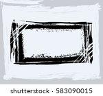 black paint  ink brush strokes  ... | Shutterstock .eps vector #583090015
