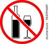 no alcohol sign vector... | Shutterstock .eps vector #583094689