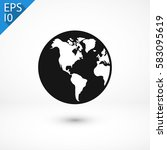 planet icon. one of set web... | Shutterstock .eps vector #583095619