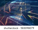 digital abstract technology... | Shutterstock . vector #583098079