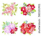 flower set | Shutterstock . vector #583101901
