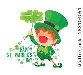 vector illustration of st.... | Shutterstock .eps vector #583104091