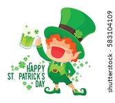 vector illustration of st.... | Shutterstock .eps vector #583104109