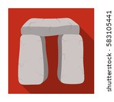 scottish stone monument icon in ...   Shutterstock .eps vector #583105441