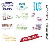 summer labels and design... | Shutterstock .eps vector #583109695