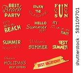 summer labels and design... | Shutterstock .eps vector #583109701