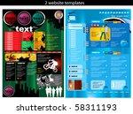 2 website design templates easy ... | Shutterstock .eps vector #58311193