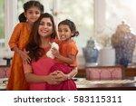 waist up portrait of smiling...   Shutterstock . vector #583115311