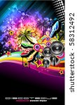tropilca disco dance latin... | Shutterstock . vector #58312492