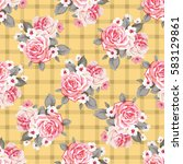 seamless floral pattern with... | Shutterstock .eps vector #583129861