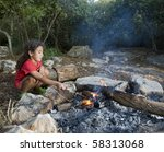 Young Girl In A Campfire Min A...