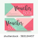 gift voucher template with... | Shutterstock .eps vector #583134457