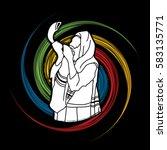 jew blowing the shofar sheep... | Shutterstock .eps vector #583135771