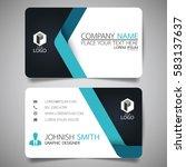 blue modern creative business... | Shutterstock .eps vector #583137637