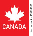 vector canadian maple leaf icon  | Shutterstock .eps vector #583139209
