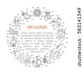 prevention of influenza round... | Shutterstock .eps vector #583141549