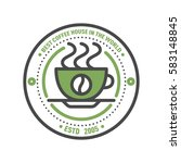 coffee badge logo food design... | Shutterstock .eps vector #583148845