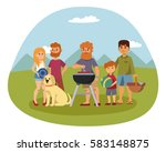 picnic setting with fresh food... | Shutterstock .eps vector #583148875