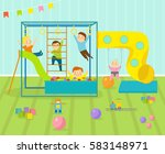 kids playroom with light... | Shutterstock .eps vector #583148971