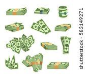 dollar paper business finance... | Shutterstock .eps vector #583149271