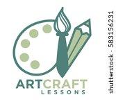 art craft logo emblem with... | Shutterstock .eps vector #583156231