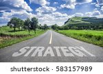 road of strategy | Shutterstock . vector #583157989