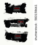 vector set of black brush... | Shutterstock .eps vector #583158661