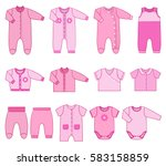 baby clothes. garments for... | Shutterstock .eps vector #583158859