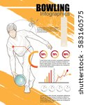 bowling infographic vector.... | Shutterstock .eps vector #583160575