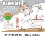 baseball infographic vector.... | Shutterstock .eps vector #583160587