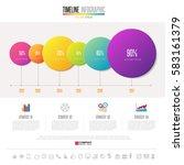 timeline infographics design... | Shutterstock .eps vector #583161379