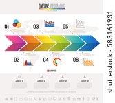 timeline infographics design...   Shutterstock .eps vector #583161931
