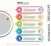 timeline infographics design... | Shutterstock .eps vector #583162195