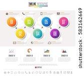 timeline infographics design... | Shutterstock .eps vector #583162669