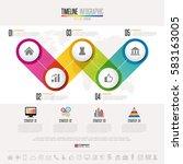 timeline infographics design... | Shutterstock .eps vector #583163005