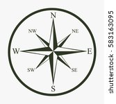 wind rose compass vector icon.   Shutterstock .eps vector #583163095