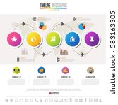 timeline infographics design... | Shutterstock .eps vector #583163305
