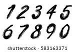 grunge numbers set.vector... | Shutterstock .eps vector #583163371